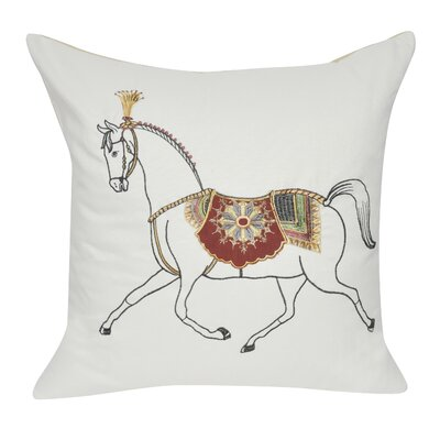 Stalion Cotton Throw Pillow