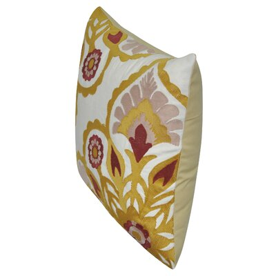 Moroccan Flower Cotton Throw Pillow Color: Gold