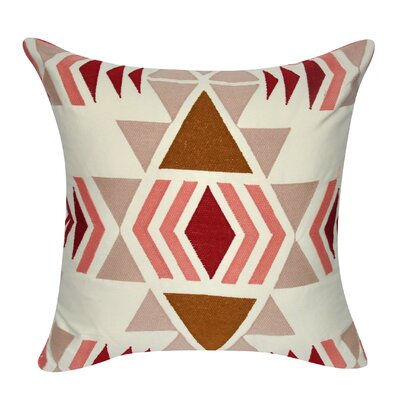 Diamond Damask Cotton Throw Pillow Color: Dark Red