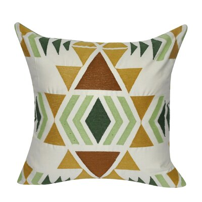 Diamond Damask Cotton Throw Pillow Color: Light Green