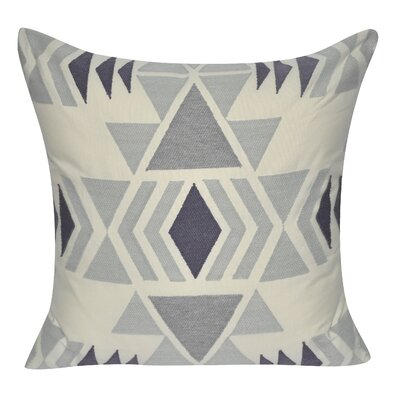 Diamond Damask Cotton Throw Pillow Color: Gray