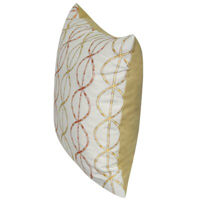 Chain Link Cotton Throw Pillow Color: Yellow
