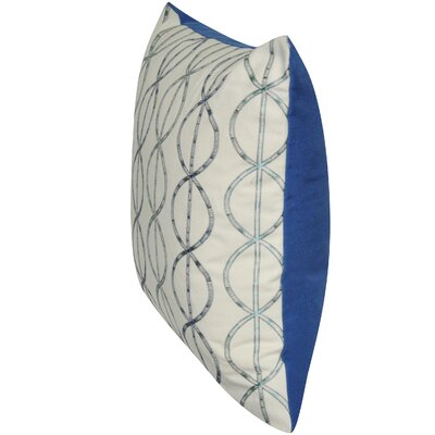 Chain Link Cotton Throw Pillow Color: Blue