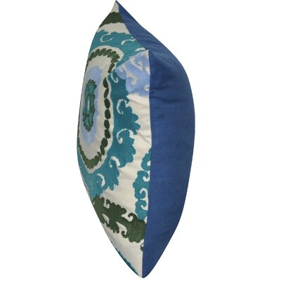 Providence Cotton Throw Pillow Color: Blue