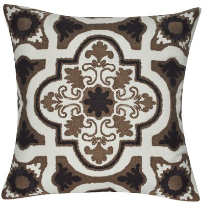 Versaille Cotton Throw Pillow Color: Dark Brown
