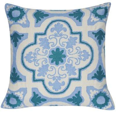Versaille Cotton Throw Pillow Color: Light Blue