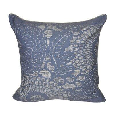Denim Flower Decorative Throw Pillow Color: Dark Blue