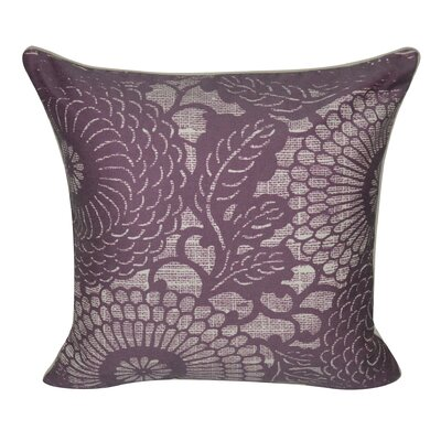 Denim Flower Decorative Throw Pillow Color: Purple