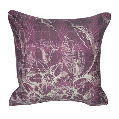 Plaid Flowers Decorative Throw Pillow Color: Purple