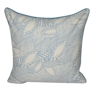 Sketched Leaves Decorative Pillow Color: Light Blue