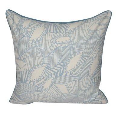 Sketched Leaves Decorative Pillow Color: Light Blue