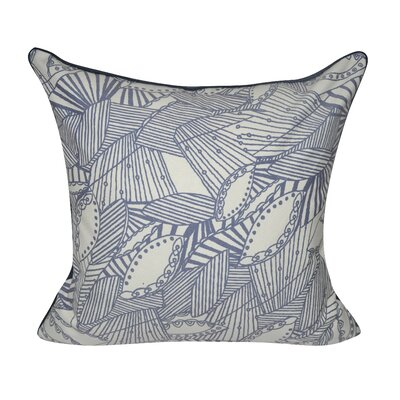 Sketched Leaves Decorative Pillow Color: Indigo