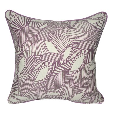 Sketched Leaves Decorative Pillow Color: Purple
