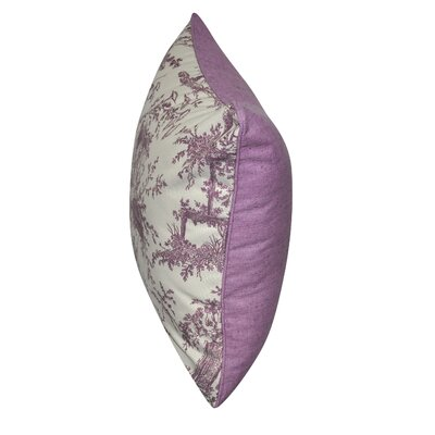 Tea Garden Toile Decorative Throw Pillow Color: Purple