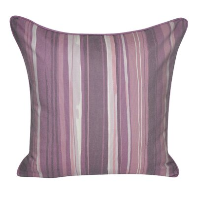 Denim Stripes Decorative Throw Pillow Color: Purple