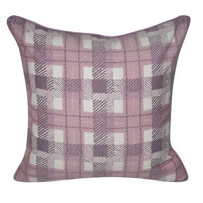 Denim Plaid Decorative Throw Pillow Color: Purple