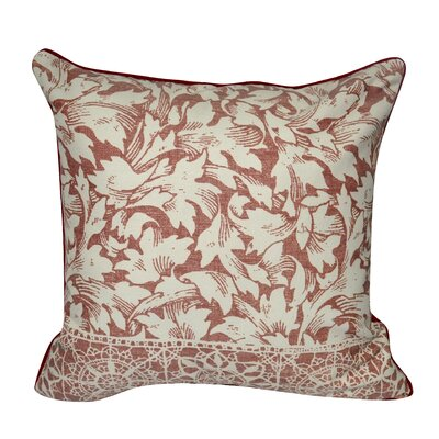 Falling Leaves Decorative Throw Pillow Color: Red