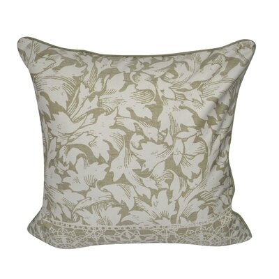 Falling Leaves Decorative Throw Pillow Color: Green