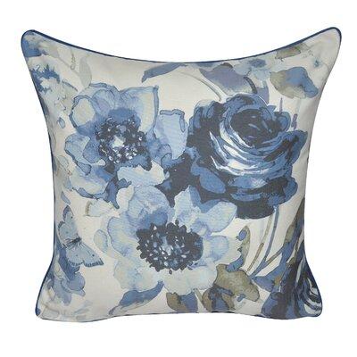 Denim Roses Decorative Throw Pillow Color: Dark Blue