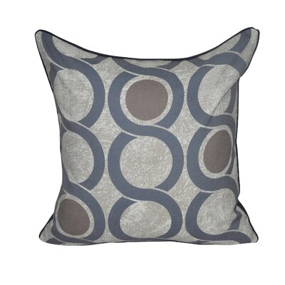 Geo Link Throw Pillow Color: Dark Blue