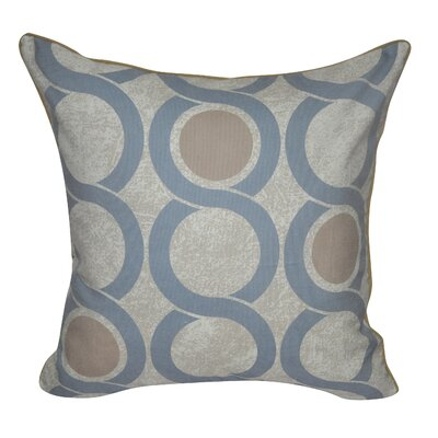 Geo Link Throw Pillow Color: Light Blue