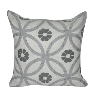 Flower Ring Throw Pillow Color: Gray