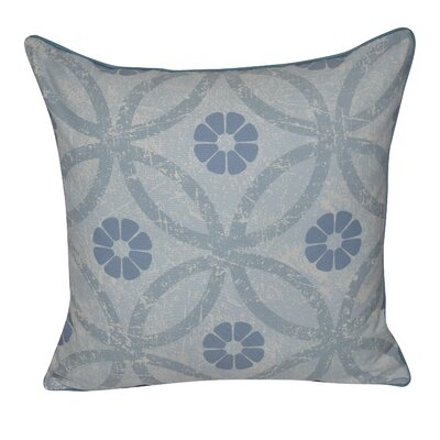 Flower Ring Throw Pillow Color: Blue