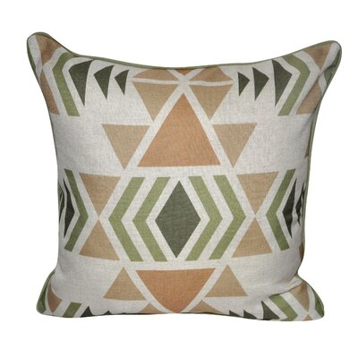 SW Diamond Printed Throw Pillow Color: Green