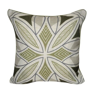 Phoenix Printed Throw Pillow Color: Green