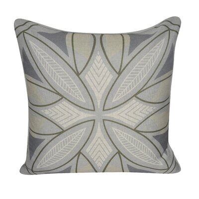 Phoenix Printed Throw Pillow Color: Gray