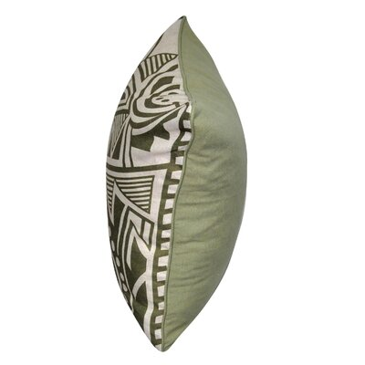 Twisted Southwest Printed Throw Pillow Color: Green