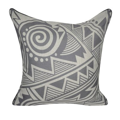 Twisted Southwest Printed Throw Pillow Color: Gray