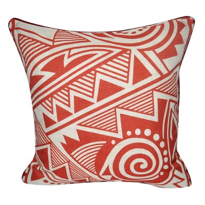Twisted Southwest Printed Throw Pillow Color: Red