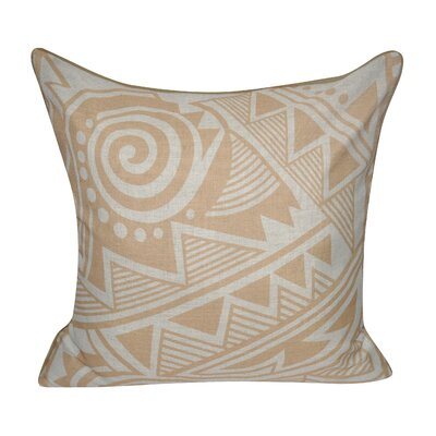 Twisted Southwest Printed Throw Pillow Color: Tan