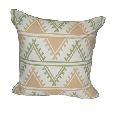 Tucson Printed Throw Pillow Color: Green