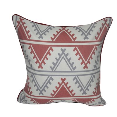Tucson Printed Throw Pillow Color: Red