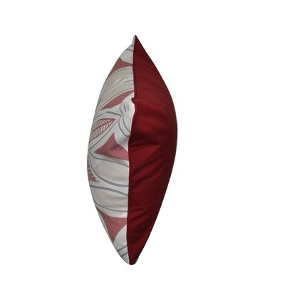 Phoenix Printed Throw Pillow Color: Red/Gray
