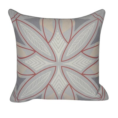 Phoenix Printed Throw Pillow Color: Gray/Red