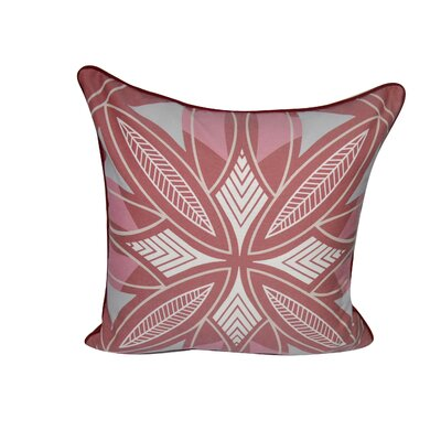 Phoenix Printed Throw Pillow Color: Red
