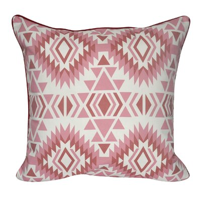 Savannah Printed Throw Pillow Color: Red
