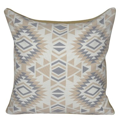 Savannah Printed Throw Pillow Color: Tan