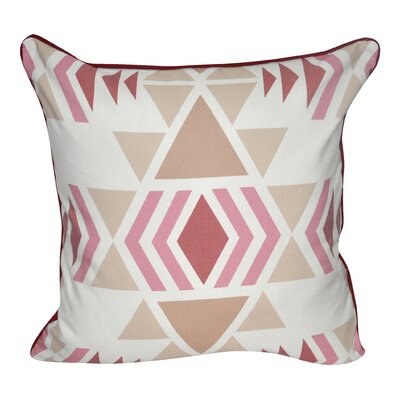 SW Diamond Printed Throw Pillow Color: Pink