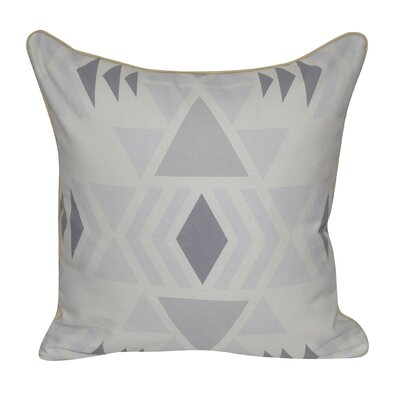 SW Diamond Printed Throw Pillow Color: Gray
