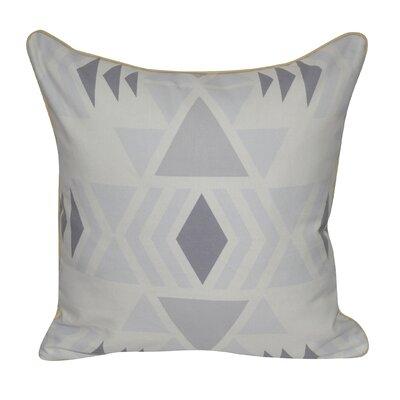 SW Diamond Printed Throw Pillow Color: Gray