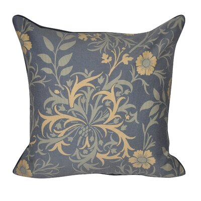 Wild Flower Throw Pillow Color: Dark Blue