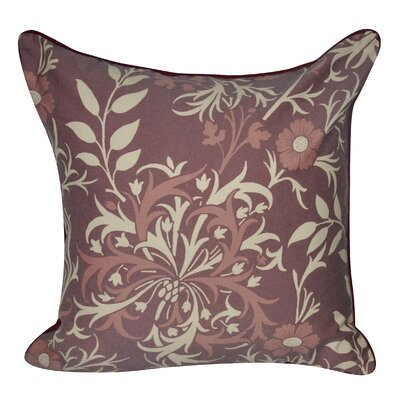 Wild Flower Throw Pillow Color: Dark Red