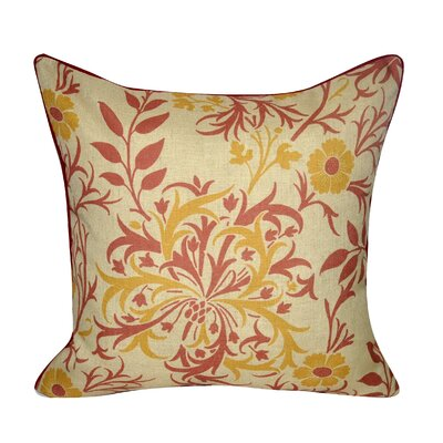 Wild Flower Throw Pillow Color: Red