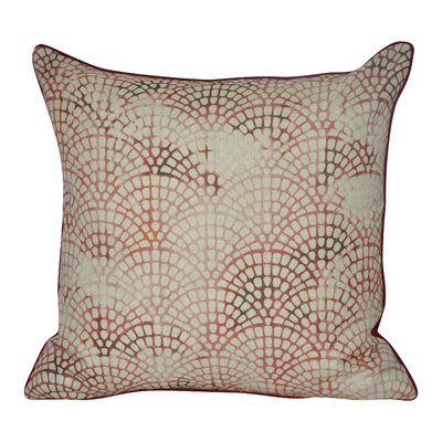 Tiled Scale Throw Pillow Color: Red