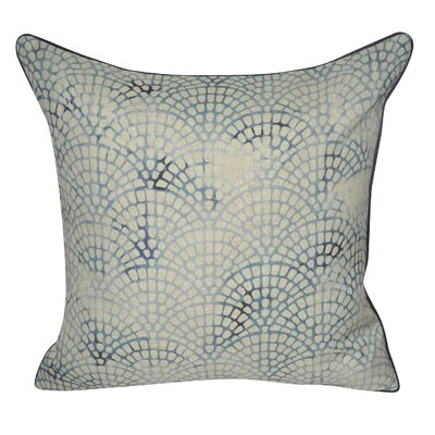 Tiled Scale Throw Pillow Color: Dark Blue