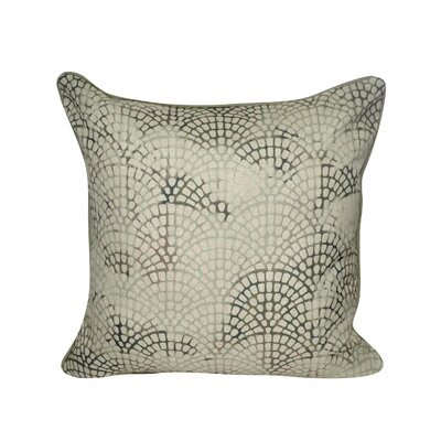 Tiled Scale Throw Pillow Color: Green